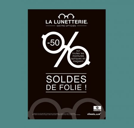 Flyer for sales at La Lunetterie