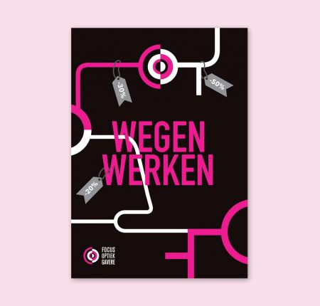 Focus Optiek – Wegenwerken flyer
