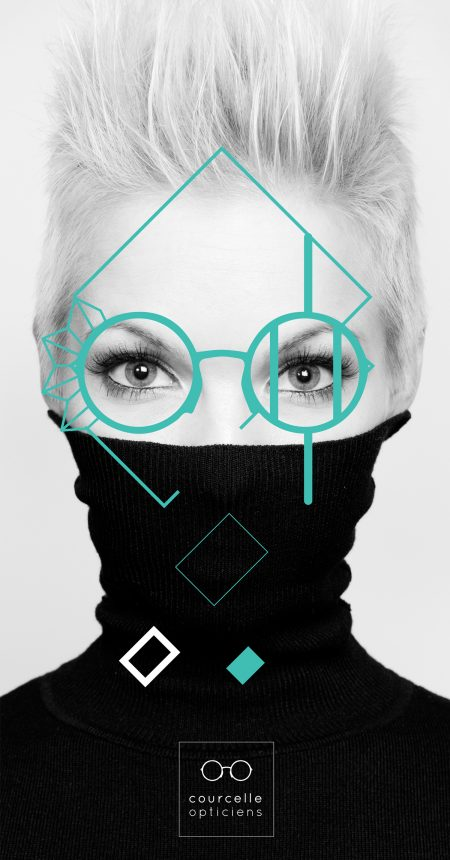 Courcelle Opticiens Poster design