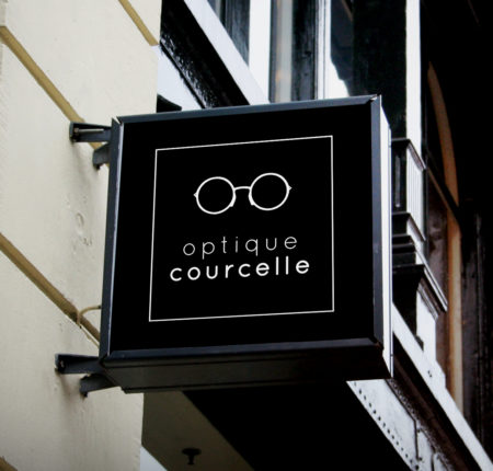 Corporate identity for Courcelle Opticiens