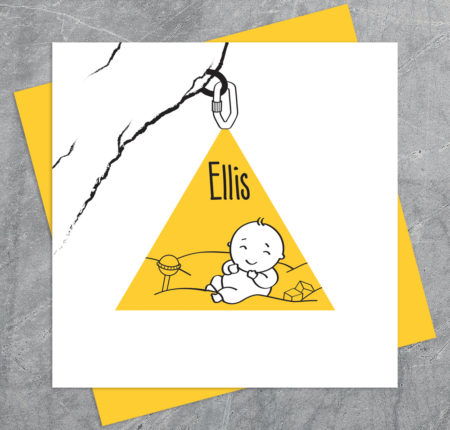 Birth card design – Ellis