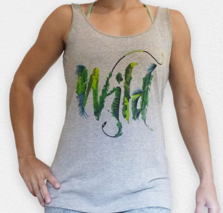 "Hand painted T-shirt design ""Wild"""