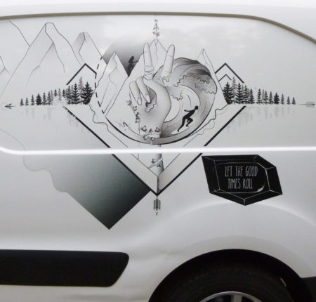 """Car sticker design """"Let the Good times Roll"""""""